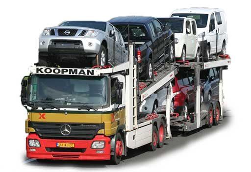 Lastwagen Autotransport Autoexport