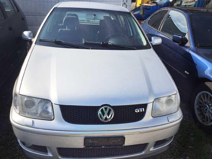 VW Polo GTI 2001 1,6L 210000km Benzin manuell silber
