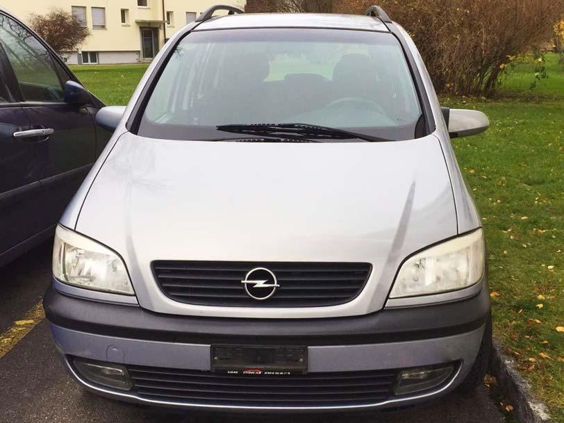 Opel Zafira 2001 1,8L Benziner manuell Klima 208000km Autoankauf
