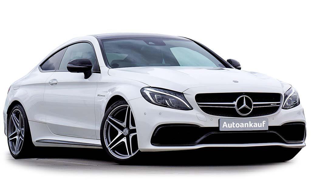 Mercedes Benz AMG V8 weiss Autoanankauf Itani