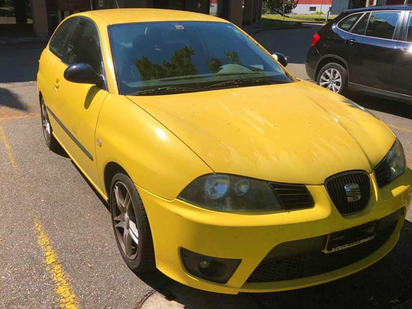 SEAT Ibiza 2005 Benzin 255000km manuell Klima 2L Gelb