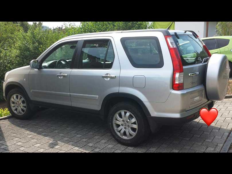 Honda CRV 2004 manuell Diesel Klima 220000km silbergrau