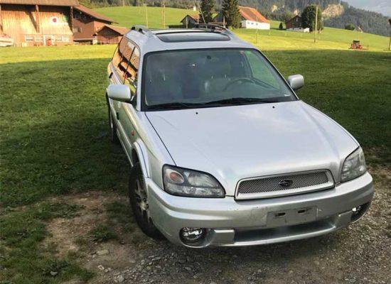Subaru Legacy 2002 Automat Leder Klima hellgrau 255000km