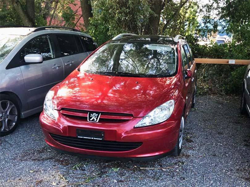Peugeot 307 Break Handschaltung Benziner 2L Klima 176000km rot