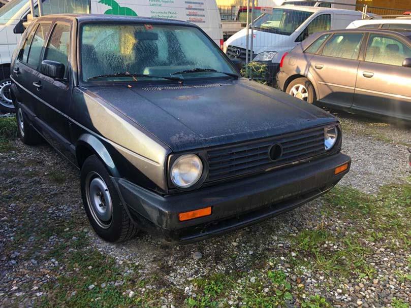 VW Golf 2 Automat 1988 283000km 900kg 1595ccm schwarz