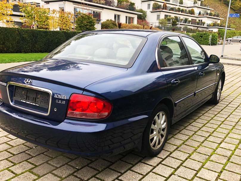 Hyundai Sonata GLS V6 2004 Benziner 2L 131PS Automat 1997ccm 1HB559 1584kg 148000km 9,5L