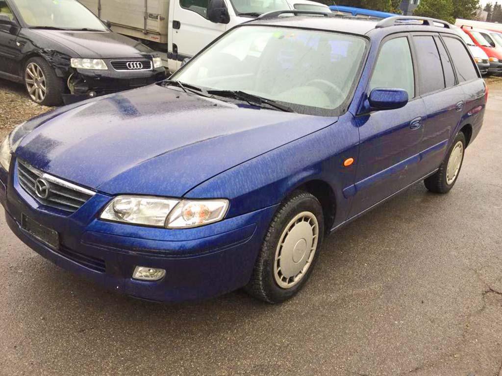 MAZDA 626 2,0i-16V Kombi Automat Benziner 2001 217000km 117PS 1991ccm 1476kg blau 8,2L