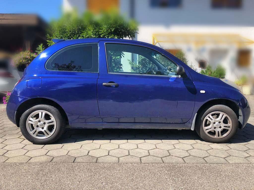 NISSAN Micra 1,4 acenta Kleinwagen 2004 Benziner manuell blau 129000km 88PS 1386ccm 1130kg 6,4L