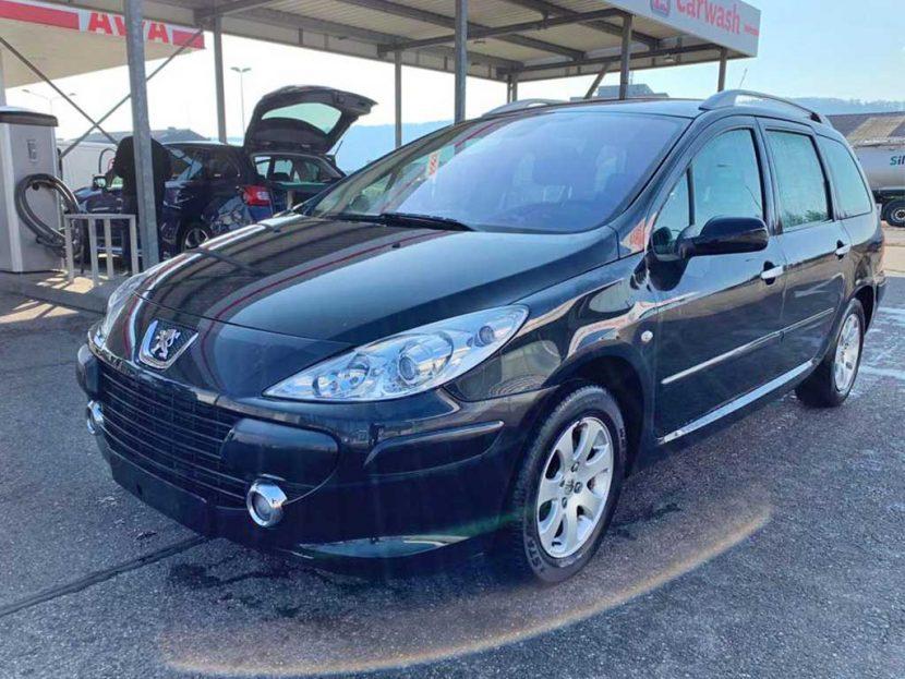PEUGEOT 307 SW 2,0 HDI Premium Benziner Automat Kombi 2008 167000km 136PS 1997ccm 1540kg schwarz 6,9L