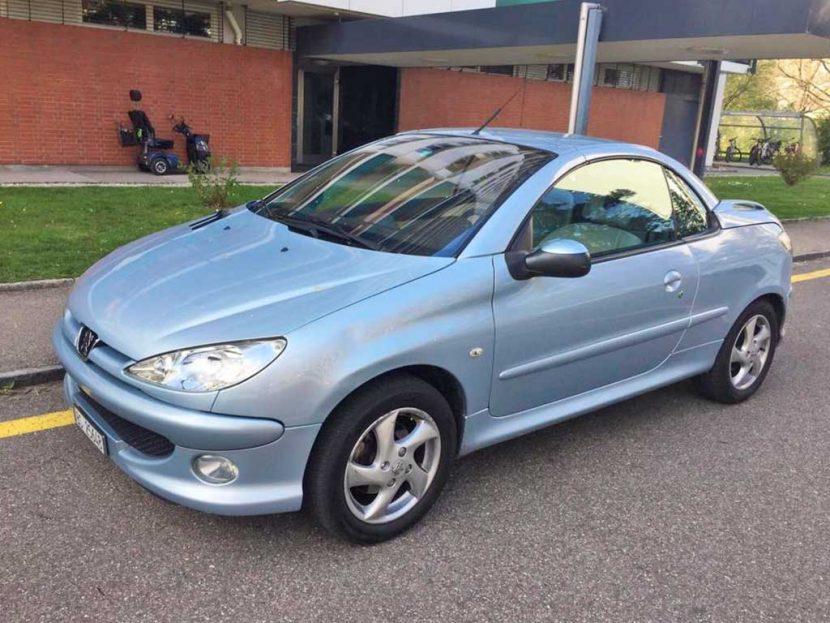 PEUGEOT 206 CC 2,0 16V Platinum Cabriolet 2006 Automat Benziner 1997ccm 1256kg 136PS 86000km 8L