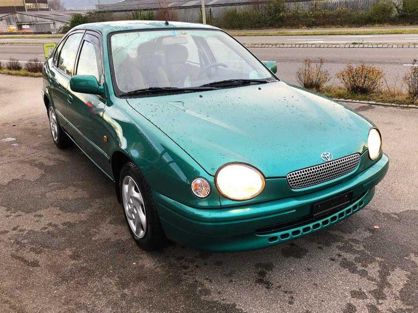 TOYOTA Corolla 1,6 Linea Luna 1998 179000km Automat Benziner 107PS 1587ccm 1286kg green 9L