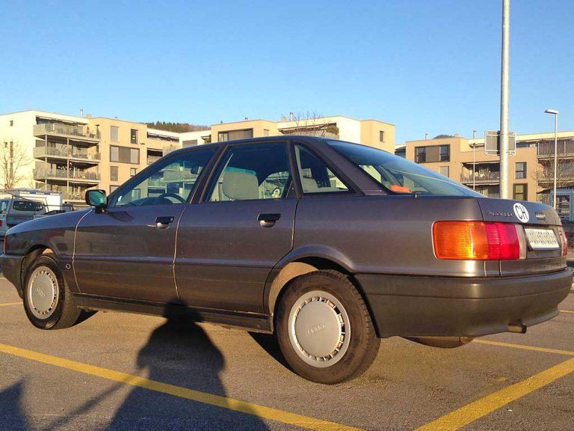 Audi 80 1,8S 1988 236000km 90PS Benziner Automat 1780ccm 1050kg Euro-Norm 1