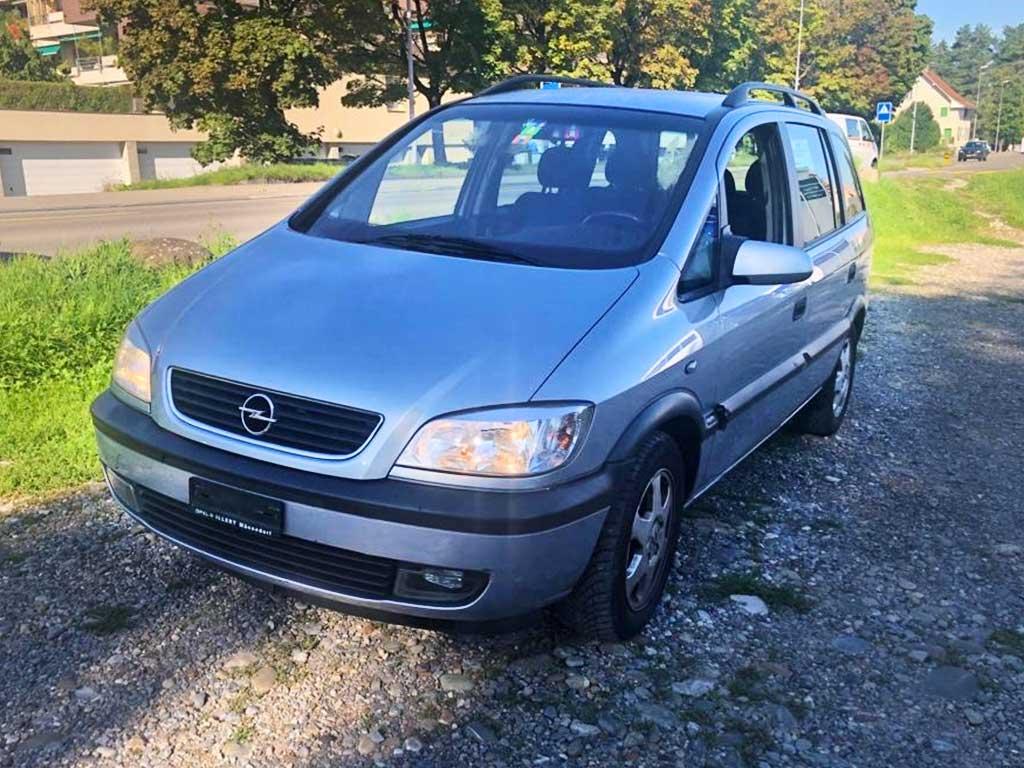 OPEL Zafira 2,2i 16V Comfort Kompaktvan 2001 Benziner Automat 168000km 147 PS 2198ccm 7Sitze 1496kg 8,9L