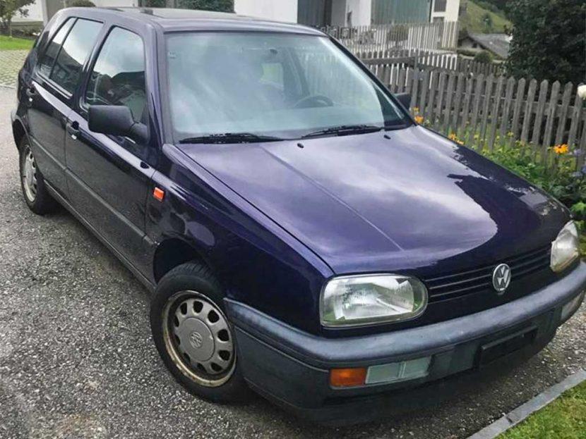 VW Golf 1800 Swiss Topline 1996 Benziner manuell 235000km 90PS 1780ccm 1186kg EuroNorm 2