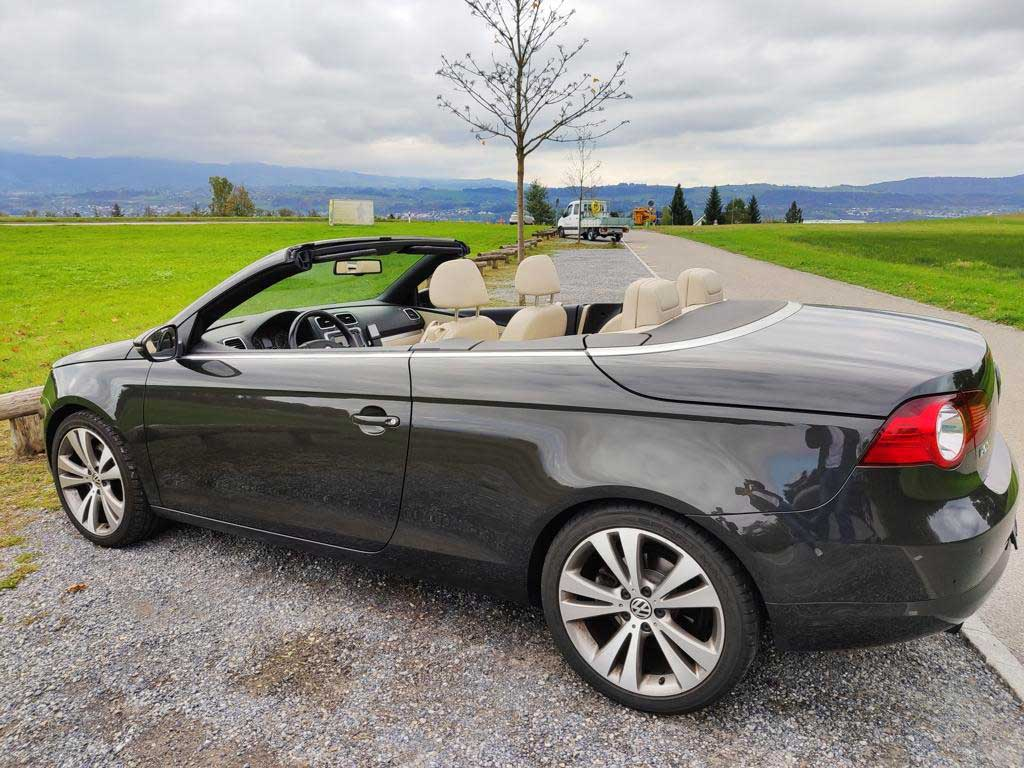VW Eos 1.4 TSI Cabriolet 2009 Benziner manuell 128000km 122PS 1390ccm 1520kg 6,5L