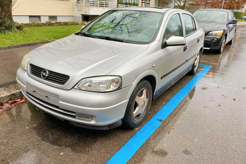 Opel Astra 1600ccm 2002 Benziner manuell 245000km 1598ccm 1220kg 101PS Euro3 7.9L